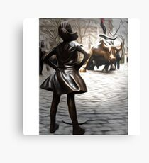 Fearless Girl Statue Metal Print