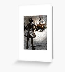 Fearless Girl Statue Greeting Card