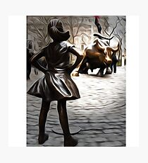 Fearless Girl Statue Photographic Print
