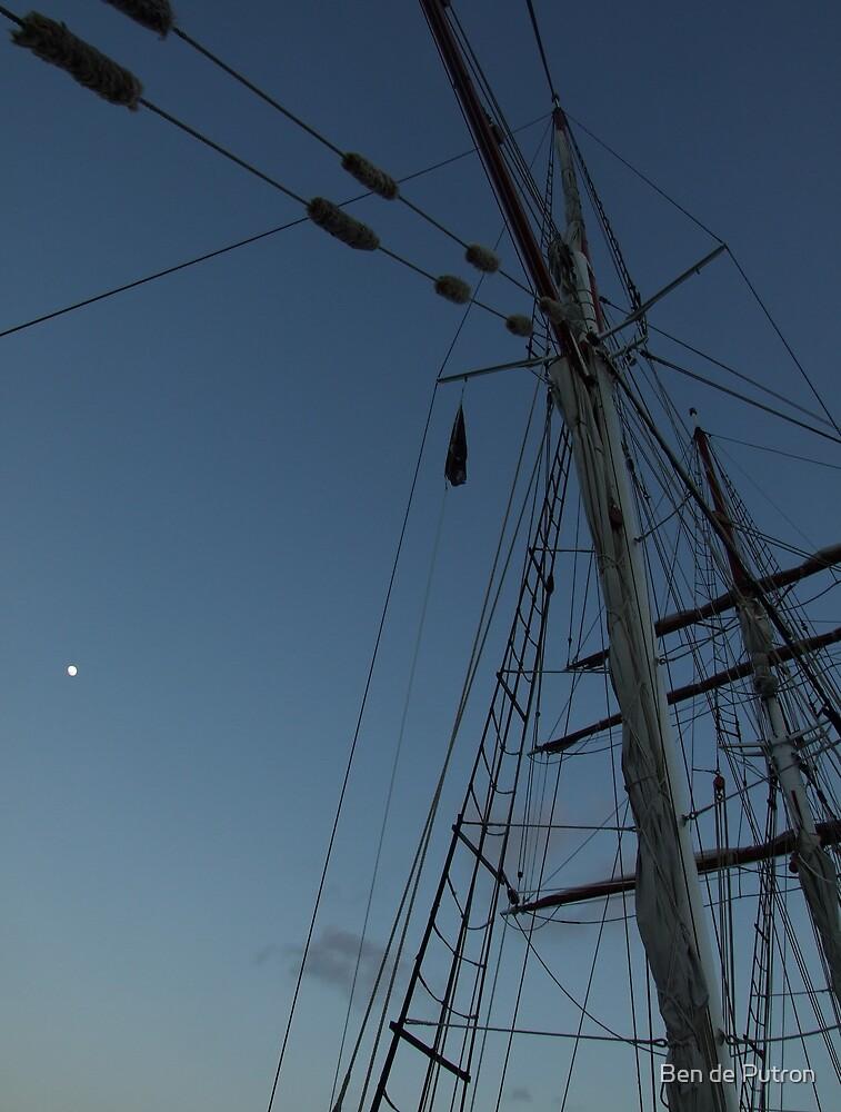 The Moon and the Tall Ship by Ben de Putron