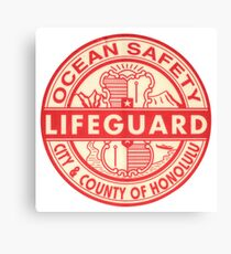 Hawaii Lifeguard Logo Canvas Print