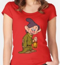 Dopey Lantern Women's Fitted Scoop T-Shirt