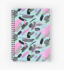 Cuaderno de espiral Menta y pintura abstracta rosa