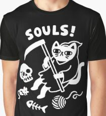 Death Cat Graphic T-Shirt