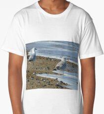 Two Watching Sea-Gulls Long T-Shirt