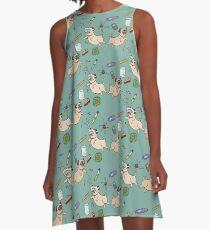 STEM Pugs A-Line Dress