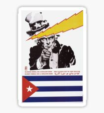 Cuban Poster - World Solidarity with the Cuban Revolution (1980) Sticker