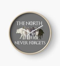 The north never forgets Clock