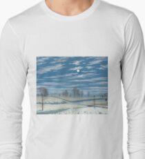 Henry Farrer - Winter Scene In Moonlight T-Shirt