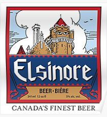 """Elsinore Beer"" - as seen on ""Strange Brew"" Poster"