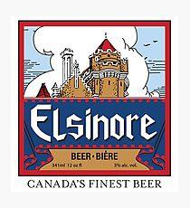 """Elsinore Beer"" - as seen on ""Strange Brew"" Photographic Print"