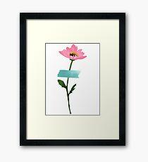 Pastel Taped Flower Print  Framed Print