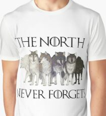 THE NORTH NEVER FORGETS Graphic T-Shirt