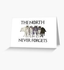 THE NORTH NEVER FORGETS Greeting Card