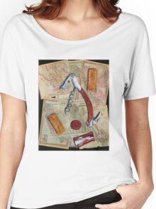California Wine Terravina cork screw Women's Relaxed Fit T-Shirt