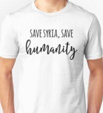 Save Syria Save Humanity  Unisex T-Shirt