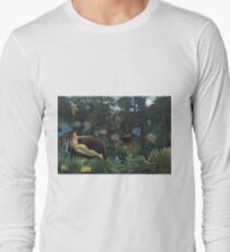 Henri Rousseau - The Dream Long Sleeve T-Shirt