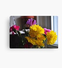 The Joy of Flowers on a Dull Day. Canvas Print