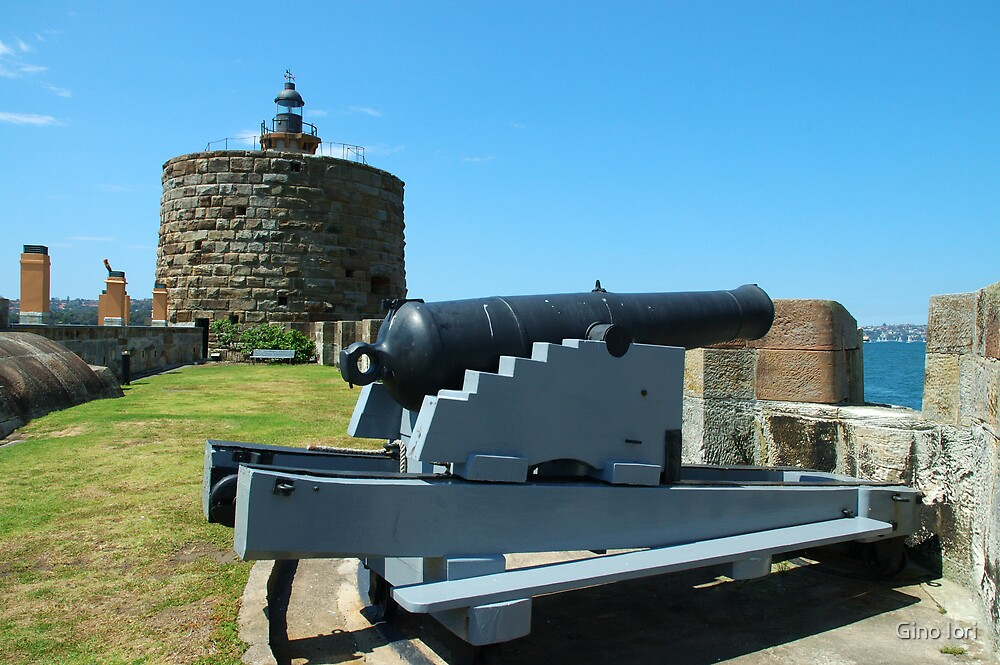 Cannon & Fort Denison by Gino Iori