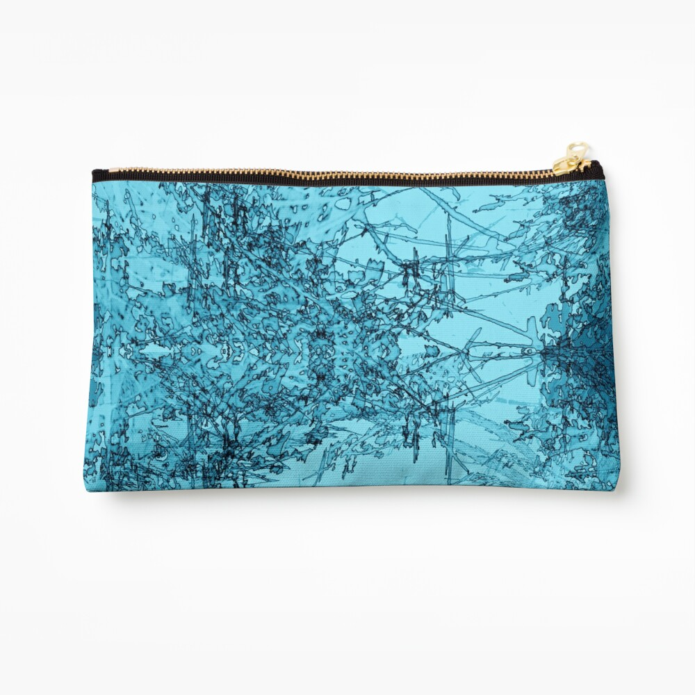 Edgy Turquoise Zipper Pouch