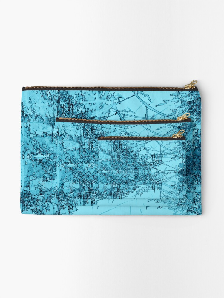 Alternate view of Edgy Turquoise Zipper Pouch