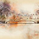 Bow Bridge Central Park New York by Ann Garrett