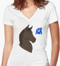 Winx the racehorse Women's Fitted V-Neck T-Shirt
