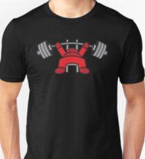 Kawaii Bench Press - Red Unisex T-Shirt