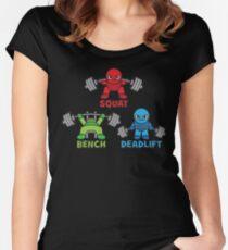 Kawaii Powerlifter - Squat, Bench Press, Deadlift (Triangle) Women's Fitted Scoop T-Shirt