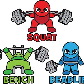 Kawaii Powerlifter - Squat, Bench Press, Deadlift (Triangle) by mchanfitness
