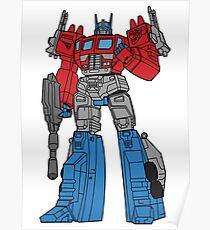 Transformers Optimus Prime illustration Poster