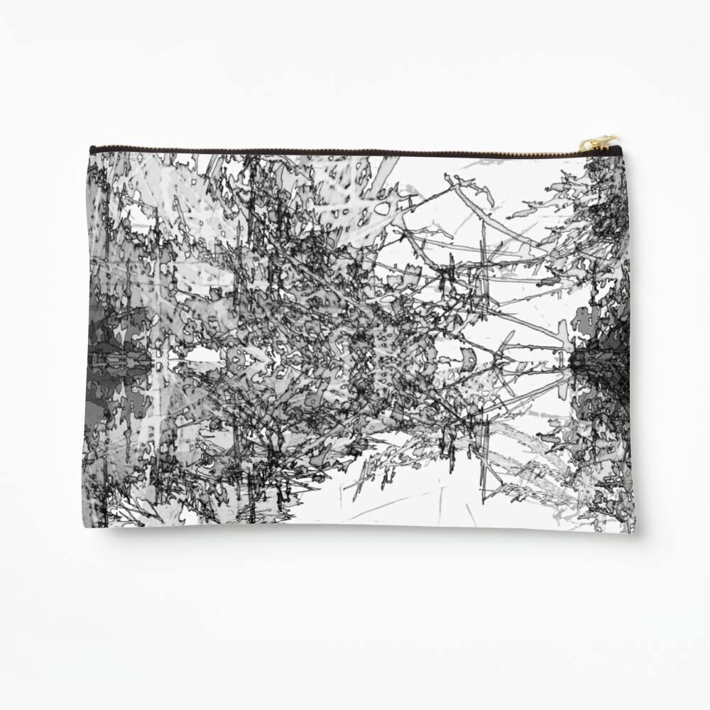 Edgy Black and White Zipper Pouch
