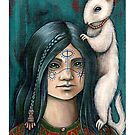 Lyra and Koti (Print with white border) by NadiaTurner