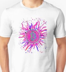 Bitcoin Explosion' in pink. Unisex T-Shirt