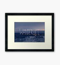 Wanderlust Ocean Framed Print