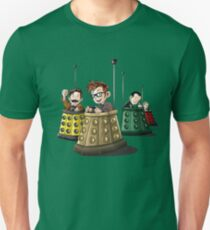Bump The Doctor Cartoon Bumper Cars Unisex T-Shirt
