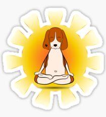 Yoga dog Sticker