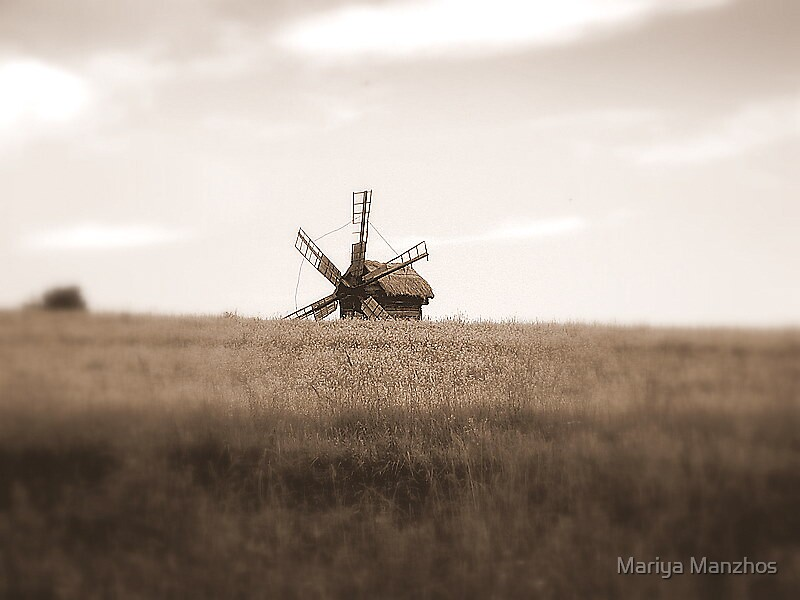 Mill in the Field by Mariya Manzhos