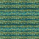 Blue Green Scribble by LaRoach