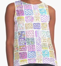 Abstract pattern of geometric shapes freehand drawing Contrast Tank