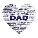 Dad - Words about Dad - heart blue text by jitterfly