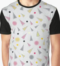 Abstract texture from circles, triangles and squares in gray Graphic T-Shirt