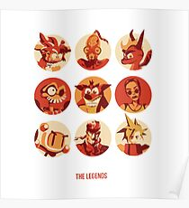 Videogames' Legends Poster