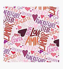 Love Languages Photographic Print