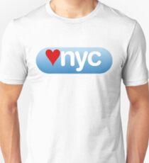 heart nyc button T-Shirt