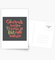 Love you Forever Postcards