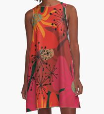 Poppy flowers A-Line Dress