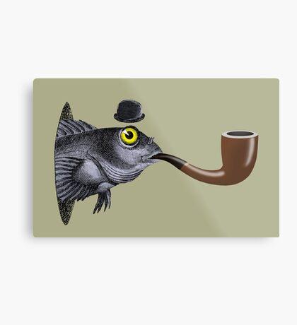 Magritte Fish Metal Print