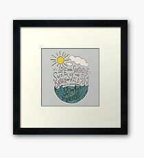 Emerson: Live in the Sunshine Framed Print