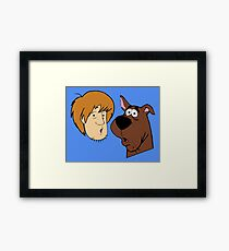Shaggy And Scooby Framed Print